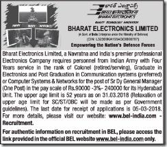 BEL India Notice 2018 www.indgovtjobs.in