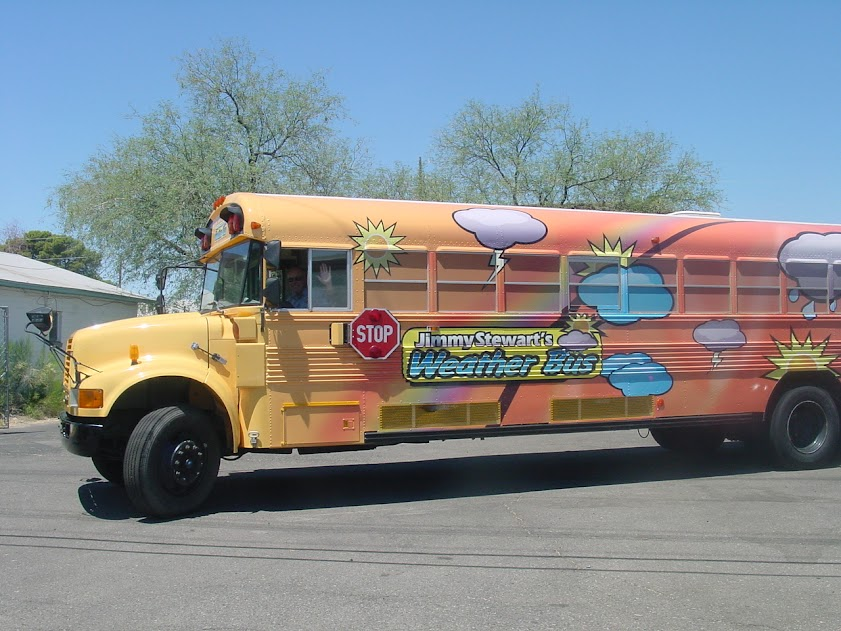 Jimmy Stewarts bus wrap in Tucson