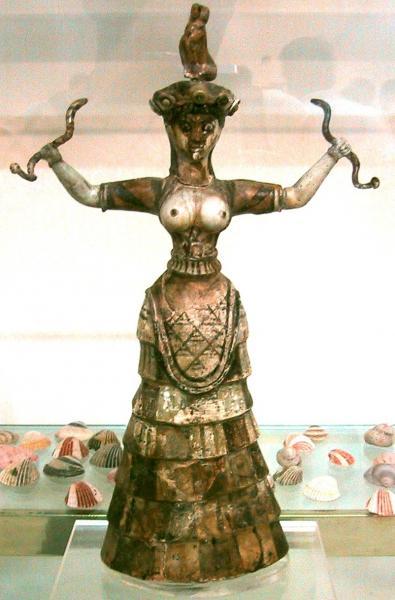 Snake Goddess Crete, Goddesses