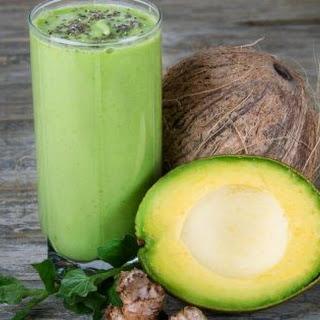 Avocado Smoothie With Coconut Milk.