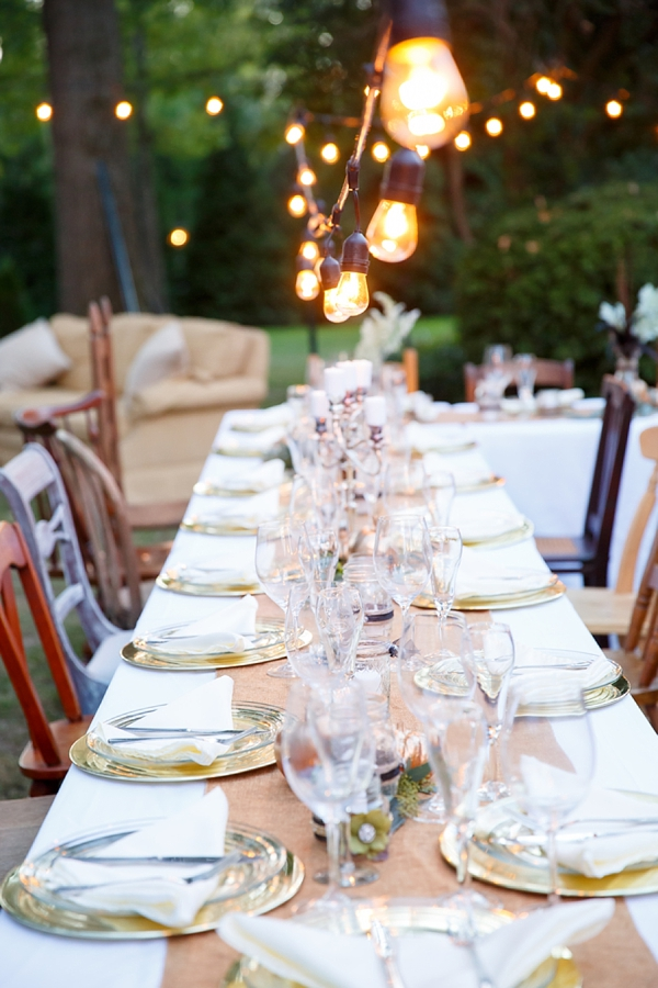 Chic Southern Rustic Engagement Party