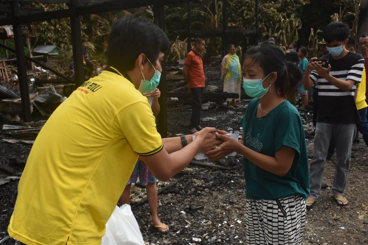 Supriansah Merasa Prihatin Atas Musibah Kebakaran yang Menimpa Warga Desa Labokong