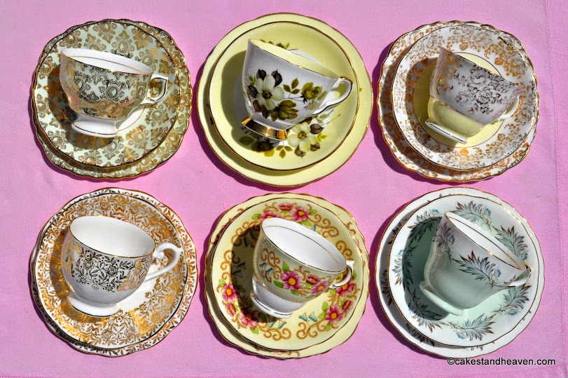Countess eclectic tea set trios x 6