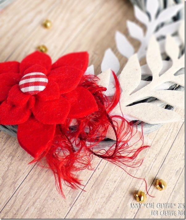 Ghirlanda natalizia con decorazioni in feltro tagliate la Big Shot