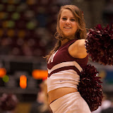 UM Spirit Sqaud member Carley Jo Benda during Monday's 82-53 victory over Minot State.  Dahlberg Arena in Missoula, Mont., November 14th, 2012.