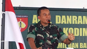 Dandim 0734/Yogyakarta Membentuk Prajurit Komando Kewilayahan Yang Profesional Kebanggaan Rakyat