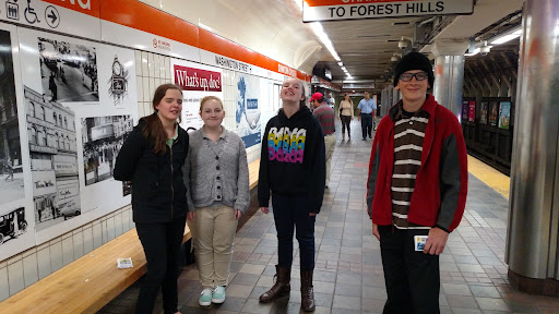 This is Hannah, Bailey, Julia, and Nicholas, and they are students from an 8th Grade Class in a local Christian School. The whole class came out for training and then went with us to the subway to give out tracts and be part of the ministry. I'm praying that God is raising up future Evangelists!