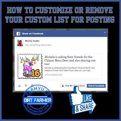 Customized posting to FB