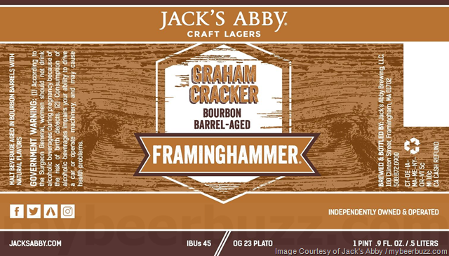 Jack's Abby Adding Graham Cracker Bourbon Barrel Framinghammer
