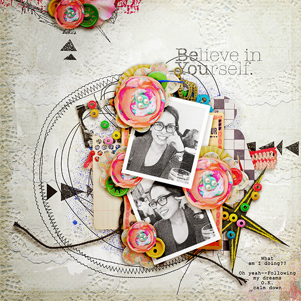 Believe in Yourself // 12x12 // Be.You.Tiful by Juliana Kneipp + Studio Basic