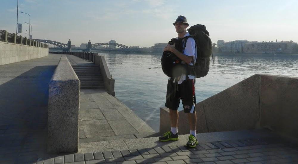 walking along the Neva River