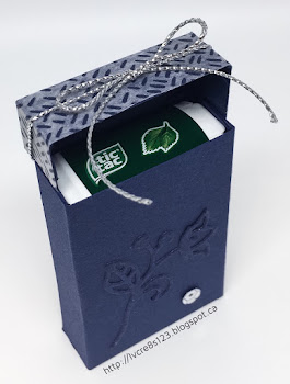 Linda Vich Creates: September Projects for Stamping Group. Tic Tacs treat hold box created using Night of Navy and Floral Boutique Designer Washi Tape.