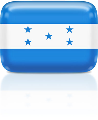 Honduran flag clipart rectangular