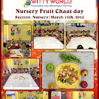 Fruit Chaat Day celebrated by Nursery section at Witty World,BN [ 2015-16 ]