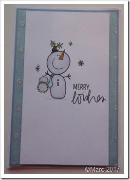 snowman stamp card