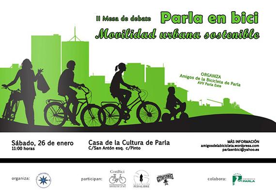 II Mesa de debate. Movilidad urbana sostenible. Parla en bici