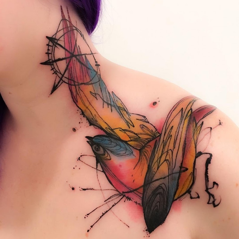este_esboço_colorido_estilo_lance_da_tatuagem
