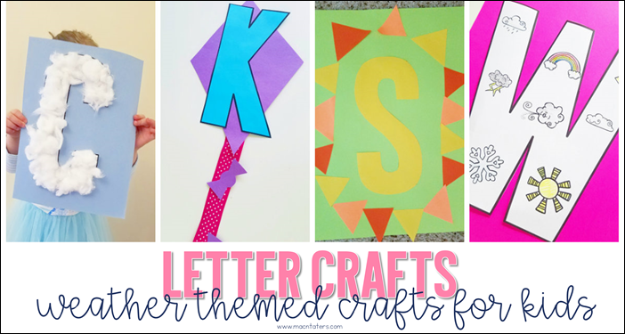 Weather Themed Letter Crafts for Kids