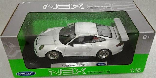 Đồ chơi Mô hình tĩnh, xe ô tô Porsche 911 GT3 Cup tỷ lệ 1/18