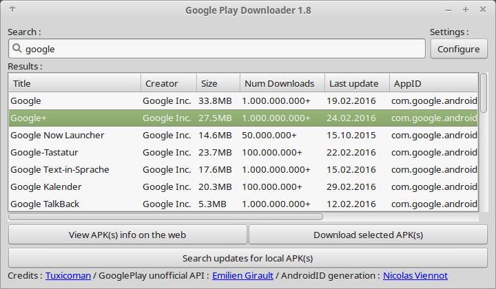 GooglePlayDownloader 1.8