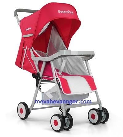 Xe đẩy em bé QQ3 màu đỏ