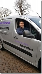 ROB RADFORD WITH HIS VAN