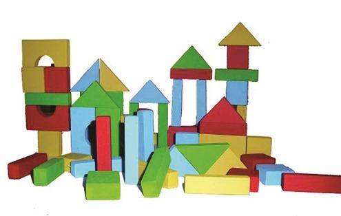 Bloques de madera - bloques de construccion