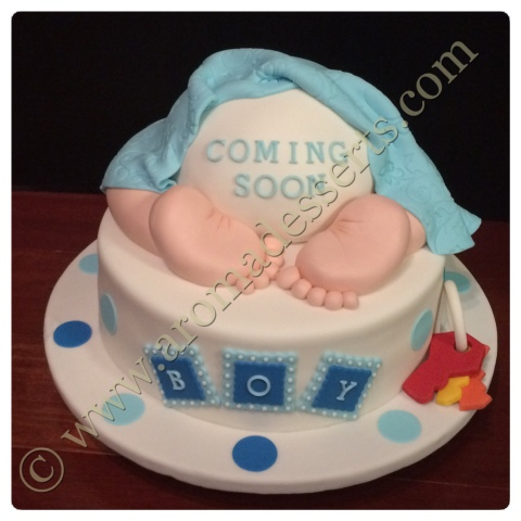 Aroma Desserts And More Baby Shower Cake Boy