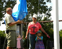 Blåt Flag hejses på stranden