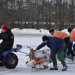 ijbaan sneeuwvrij maken