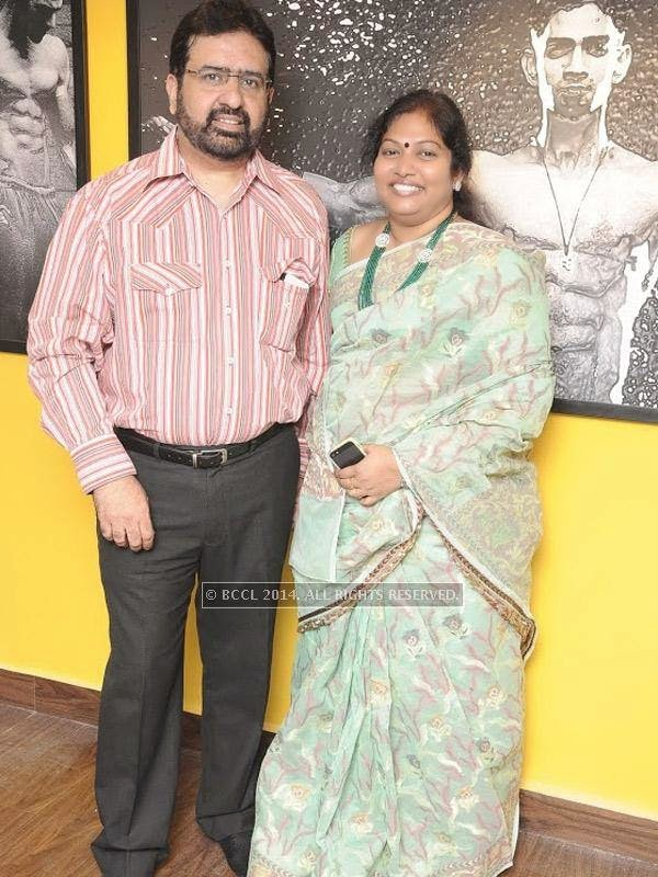 Gopi Krishnan and Logeshwari at the launch of the fitness studio Body Shape in Chennai.