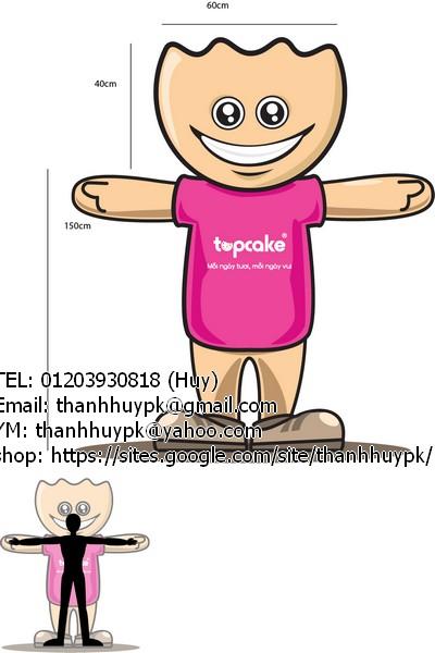 thiết kế nhân vật hoạt hình, biểu tượng của công ty từ logo mẫu
