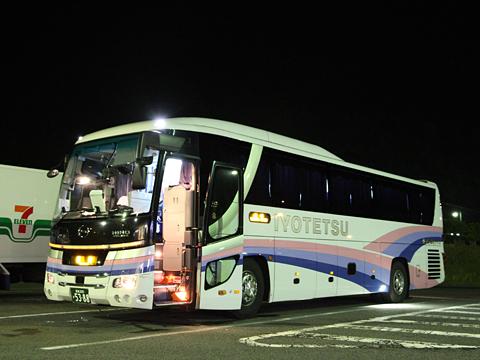伊予鉄南予バス「道後エクスプレスふくおか号」 5388 桜三里パーキングエリアにて