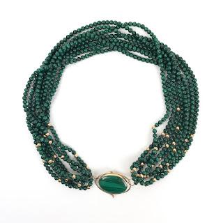 14K Gold & Malachite Necklace