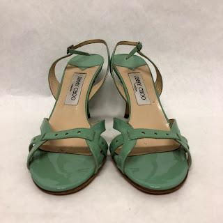 Jimmy Choo Mint Patent Leather Sandals
