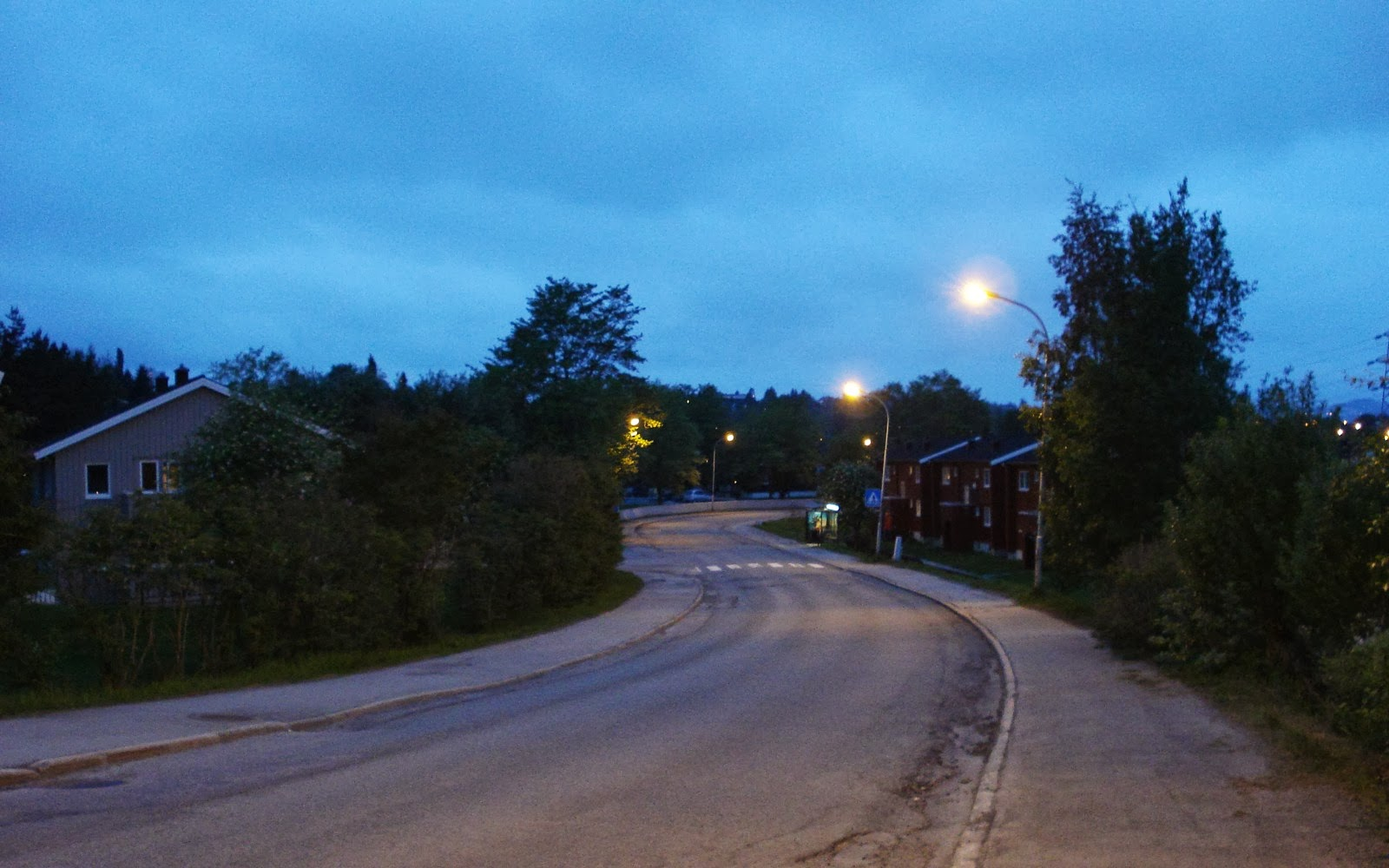 ...And it's still not dark past midnight in the summer in Trondheim.