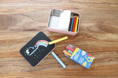 Not 2 late to craft: Set de dibuix portàtil / Portable doodle kit
