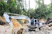 Polres Pidie Amankan Alat Berat Penambang Emas Ilegal di Geumpang, Enam Pelaku Ditahan Dua Pesaham DPO Kepolisian
