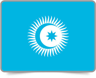 Turkic Council framed flag icons with box shadow