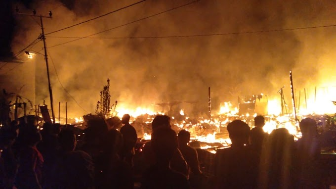 13 KK Jadi Kebakaran di Desa Dadahup Kapuas