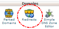 Tombol redirects cpanel