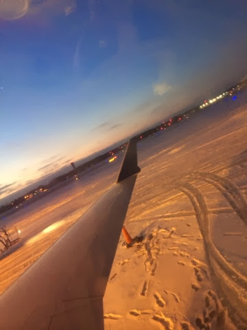 Norfolk International Airport, snow