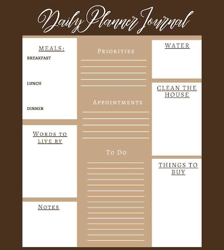 A Smooth Sea Never Made A Skillful Sailor Daily Planner Journal - Printable Digital Book