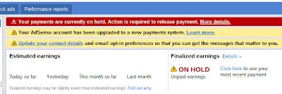 AdSense Payment Upgrade