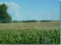 Minnesota corn and wind turbines