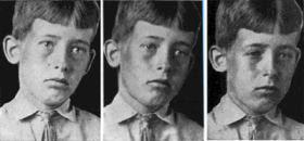 Тест зрения мальчика на психическое напряжение
