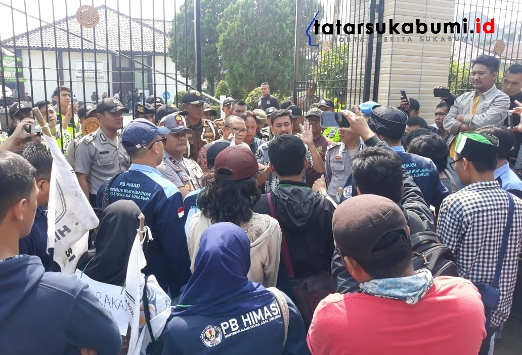 Kasus Dugaan Korupsi BPNT di Sukabumi Dinilai Molor, Mahasiswa Demo Kejaksaan