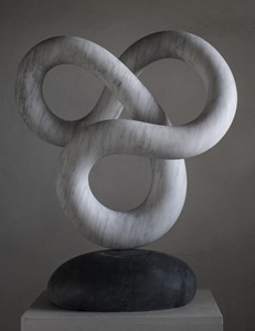Mogal: CARRARA MARBLE, 2017: W 63cm, H 77 cm, D 32 cm; SOLD
