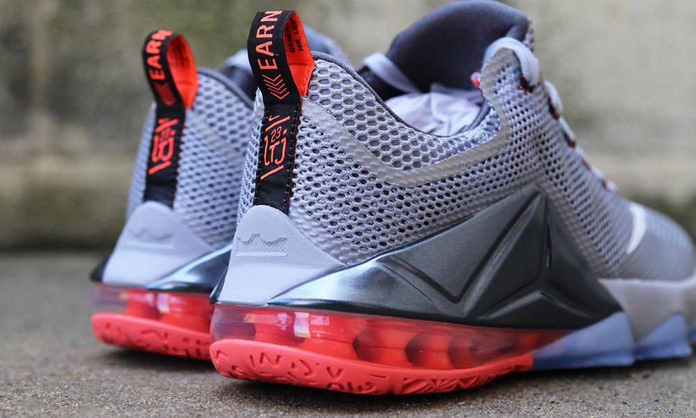 09bd8491636 ... Release Reminder Nike LeBron 12 Low Wolf Grey Hot Lava ...