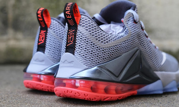 Release Reminder Nike LeBron 12 Low Wolf Grey  Hot Lava